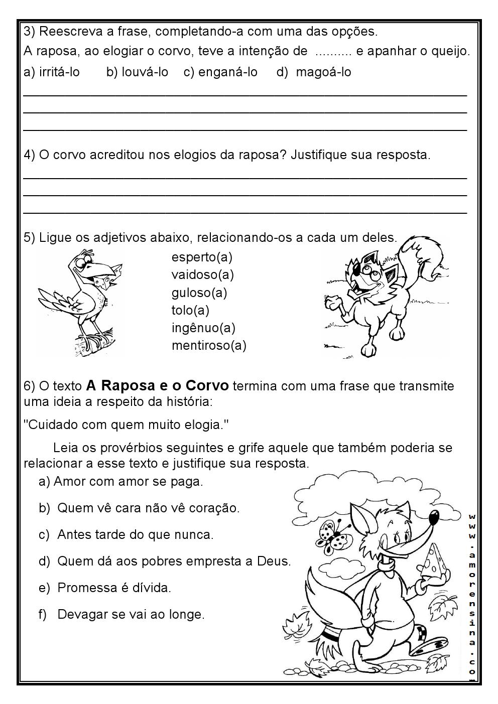 Trabalhando Com Fabulas Interpretacao E Gramatica So Escola