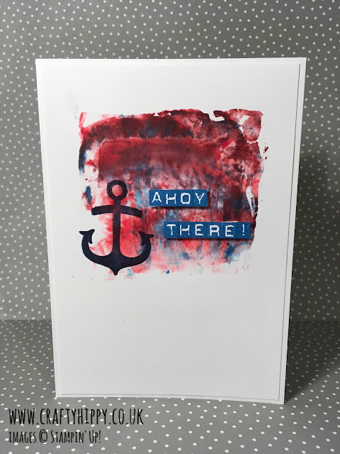 Make an anchor card using the Shaving Foam Technique and Stampin' Up! ink refills. Full step by step instructions.