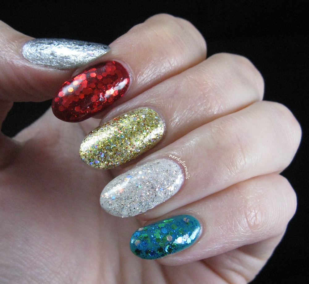 Christmas Nails With Glitter: Nerdy For Nails: Merry Sparkle-mas