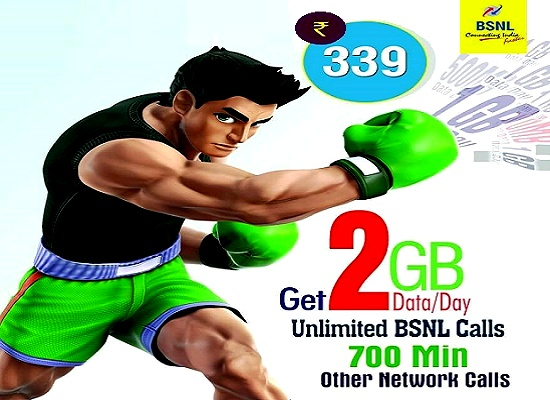 BSNL launched USSD activation of Combo STV 339, Now dial *444*339# to activate the offer @ just Rs 295