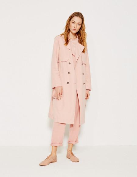 trench coat chaqueta gabardina fluida yerse jacket