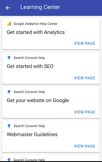 you can also access Google Analytics and Search Console