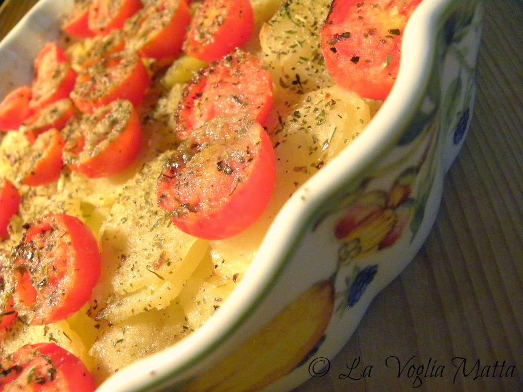 pasticcio di patate e pomodori