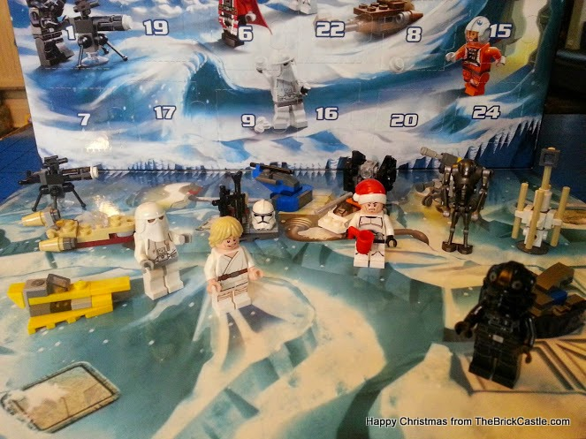 The LEGO Star Wars Advent Calendar Day 15 speeder in situ