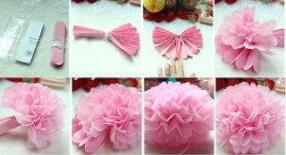 DIY Bunga Pom Pom