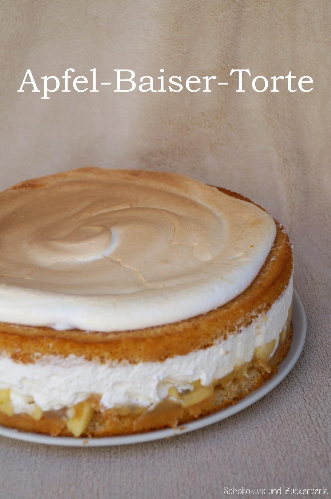 Apfel Baiser Torte Schokokuss Und Zuckerperle