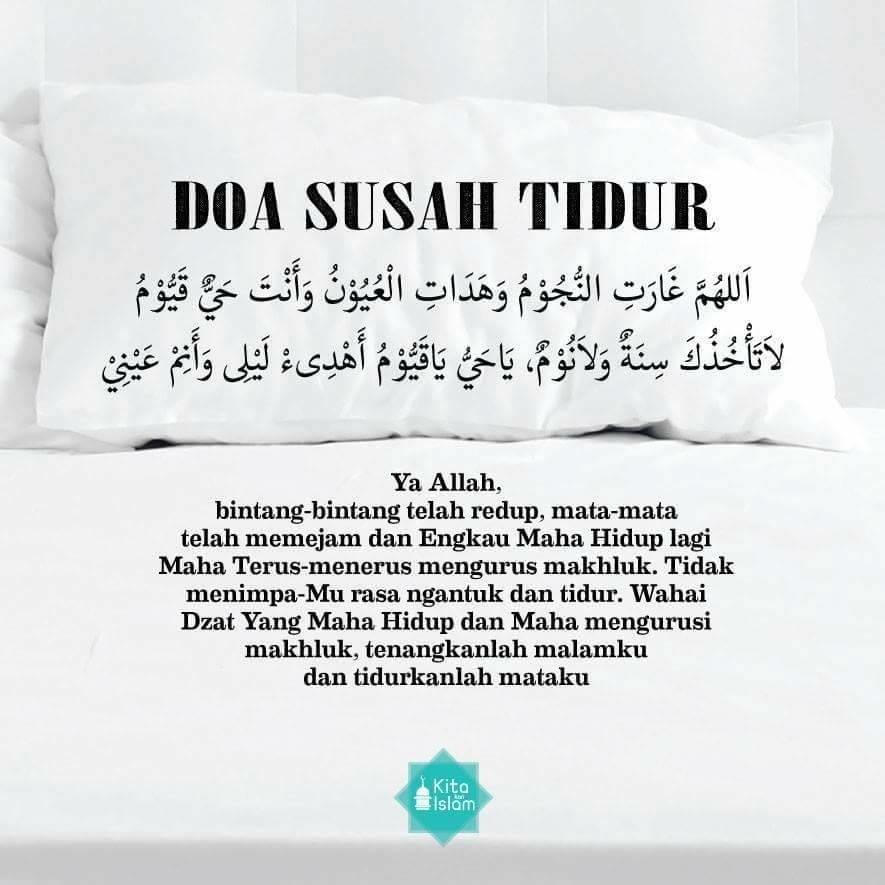 doa susah tidur