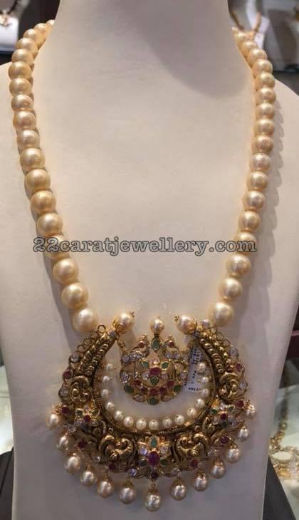 18827740eaa9d South Sea Pearls Long Set Half Moon Pendant - Jewellery Designs