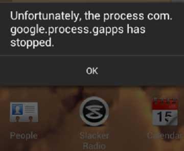 Proses com.google.process.gapps Terhenti