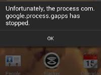 Mengatasi Sayangnya Proses Gapps Telah Berhenti