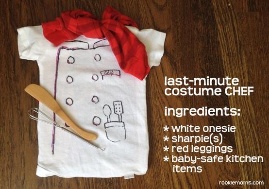 disfraz de chef para bebe