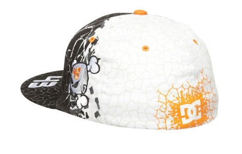 Back View Of DC Shoes Ken Block Cracked Fitted Hat d267f51eb5c