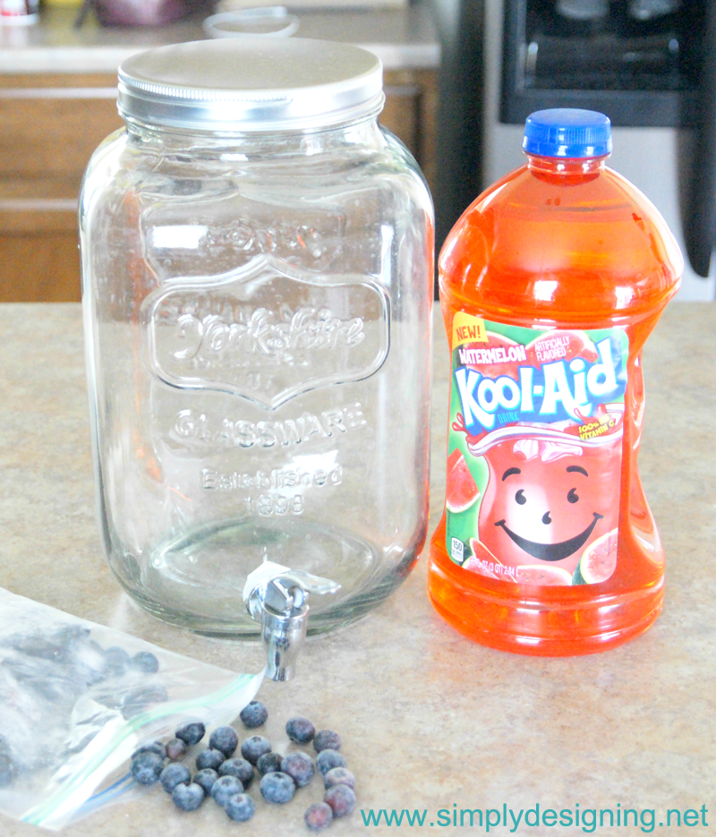 Watermelon Blueberry Punch | #recipe #punch #drinks #koolaid #kooloff #shop
