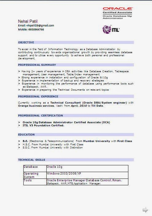 Linux Administrator Resume 3 Year Experience – Linux Resume Format
