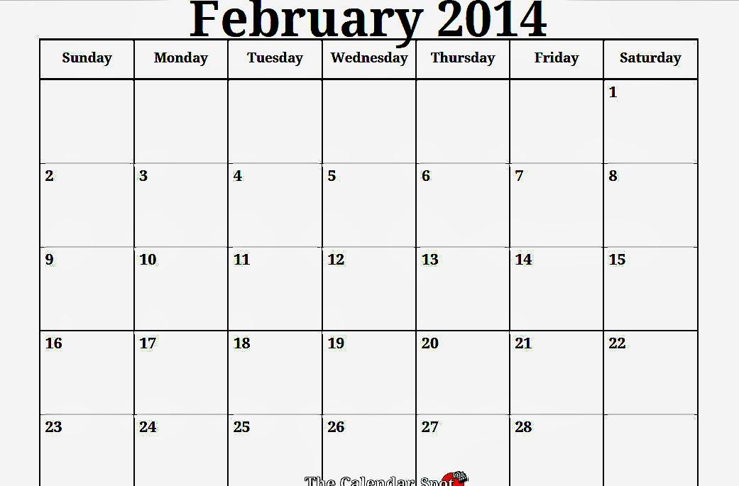 Febrary blank calendar 2014 2016 blank calendar for 2 month calendar template 2014