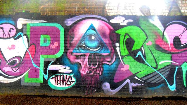 All Seeing Eye Occult Graffiti