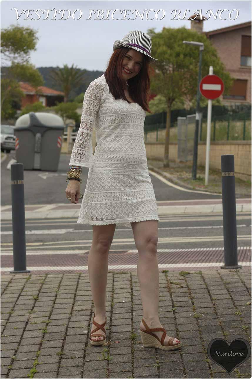 vestido ibicenco blanco de encaje, ideal y maraviloso