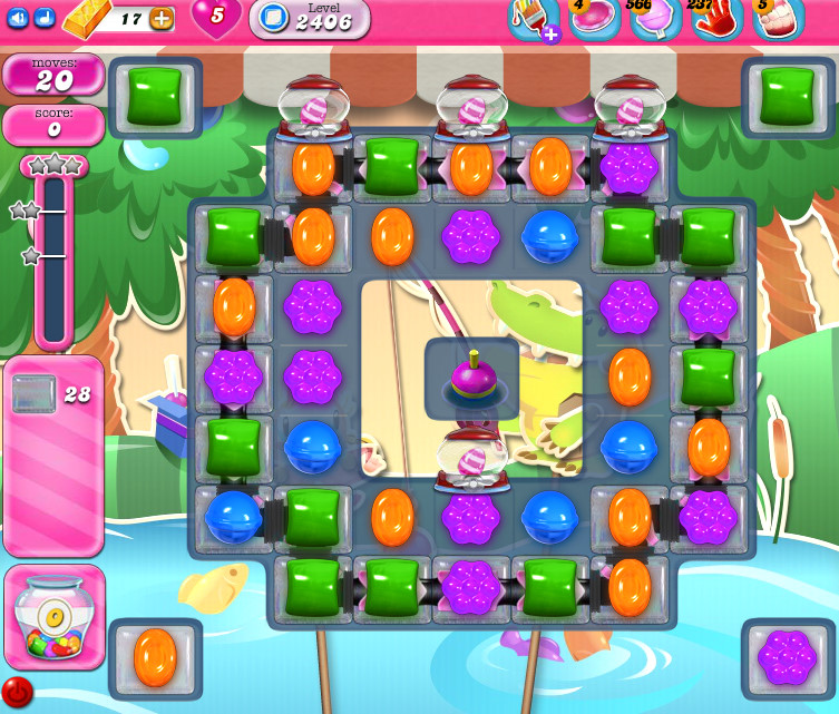 Candy Crush Saga level 2406