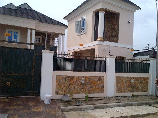 natural stone on a Nigerian building