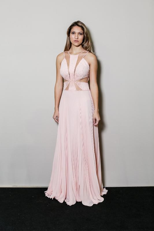 vestido de festa rose quartz