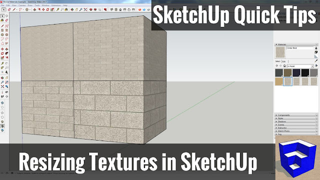 Resizing Textures and Materials in SketchUp