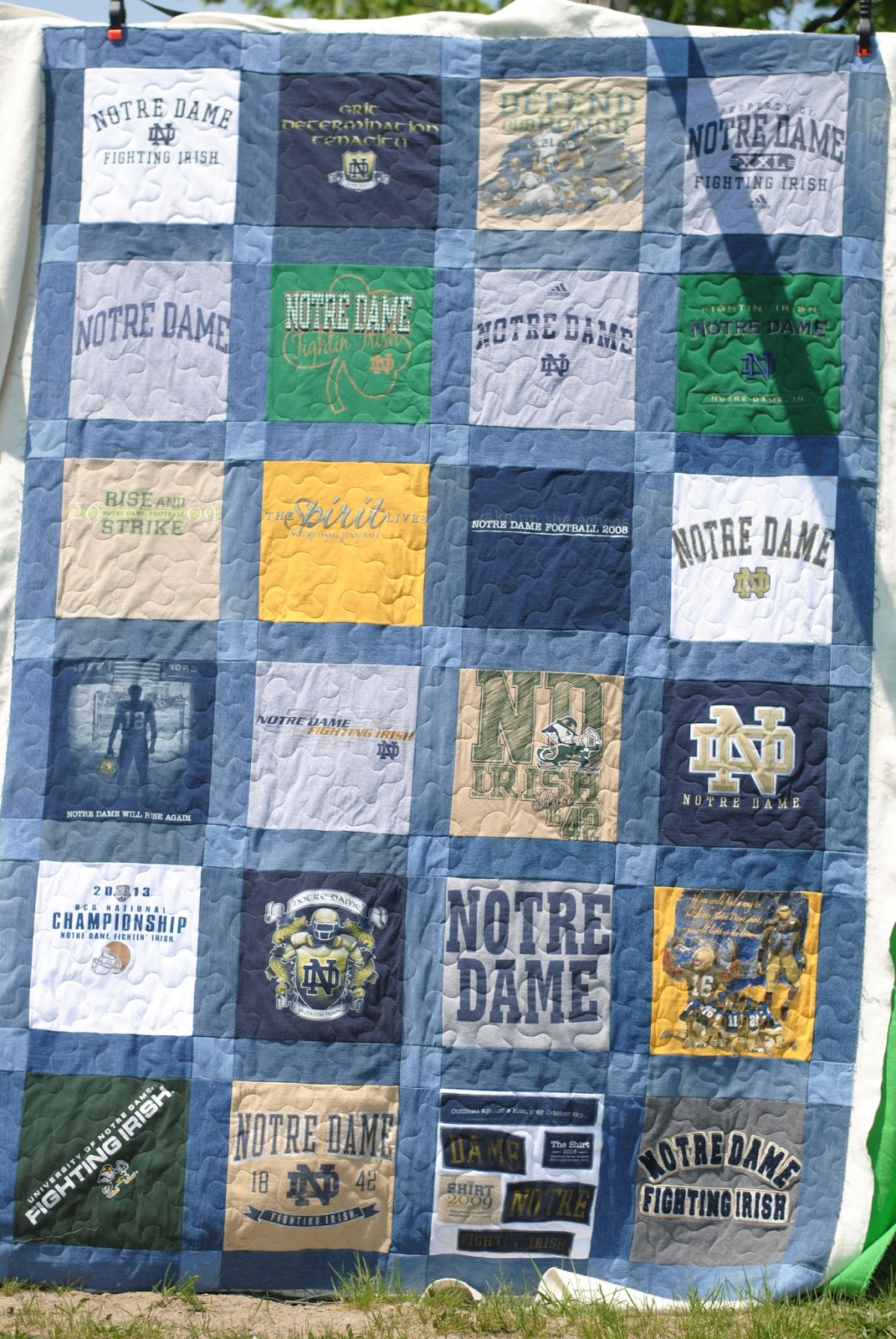 Patchwork Playground T Shirt Quilt Denim Quilt