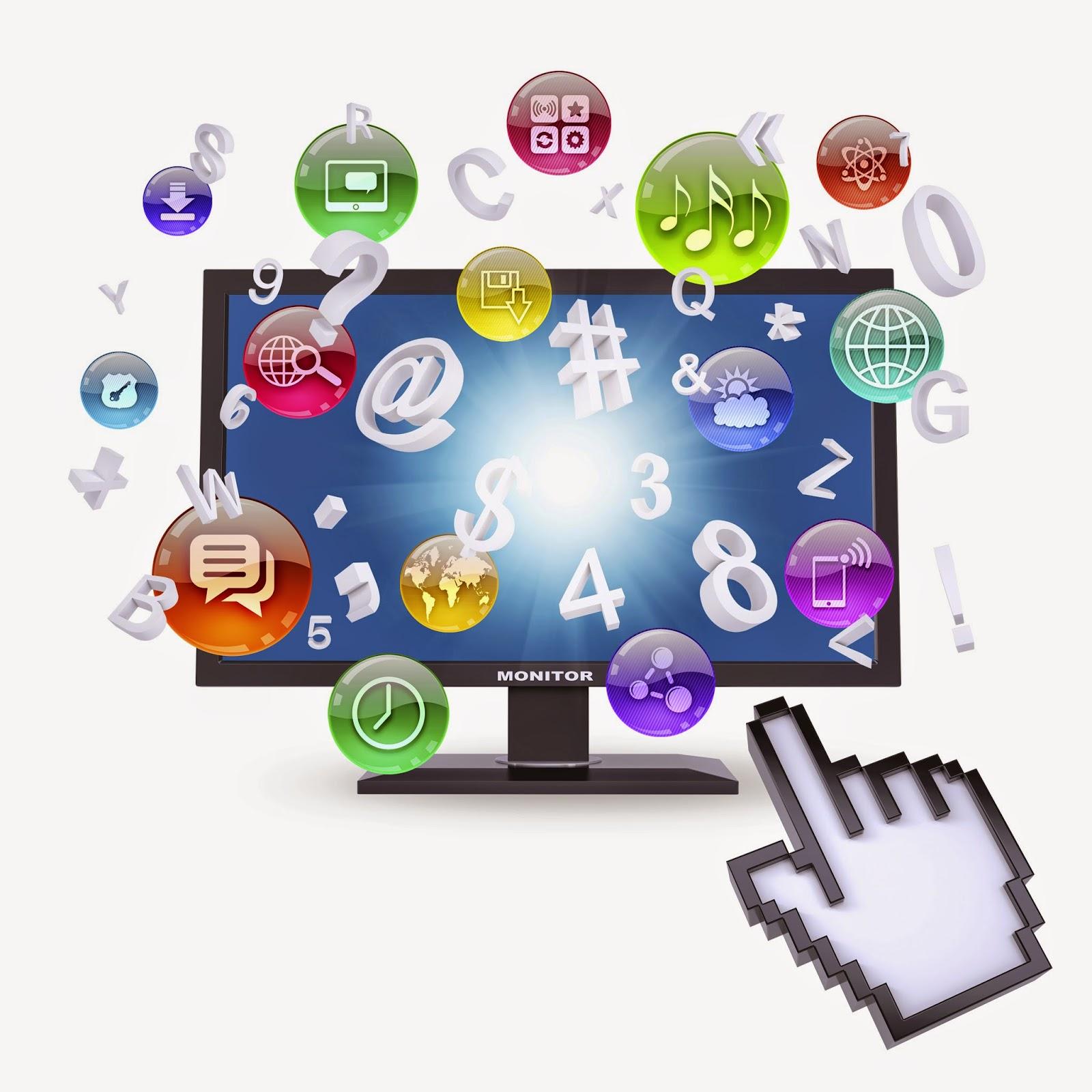 Computer monitor and application symbols