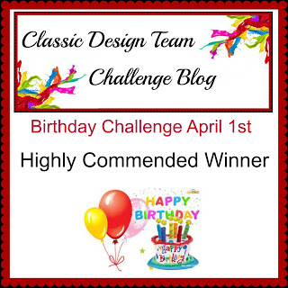 Winner at Classic Design Team Challenge April