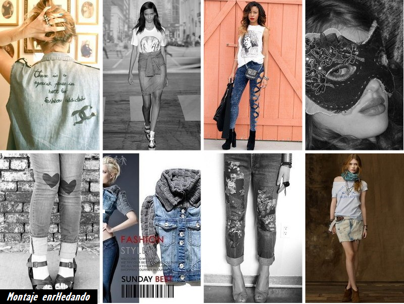vaqueros, customizar, bricomoda, refashion, jeans, diys