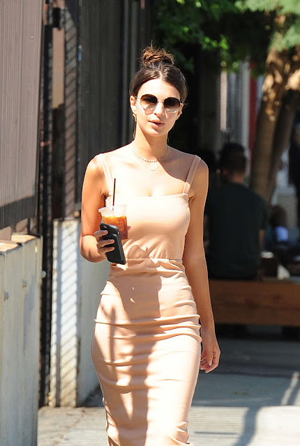 Emily Ratajkowski in Tight Dress out in Los Angeles