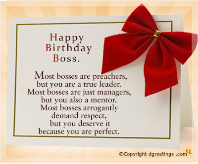Happy Birthday wishes For Boss: most bosses are preachers,