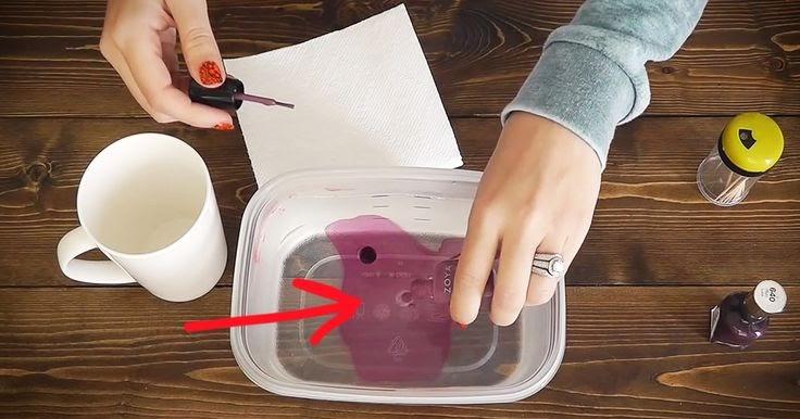 Diy watercolor coffee mugs using nail polish diy craft for Crafts using nail polish