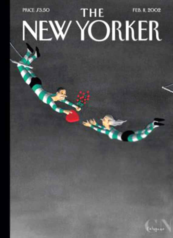 vintage the new yorker magazine covers, february 14 valentines day