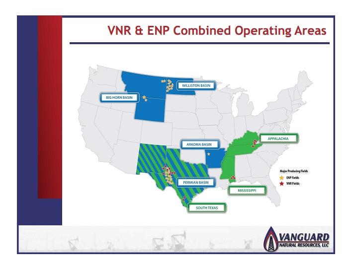 Vanguard Natural Resources Encore Energy Partners