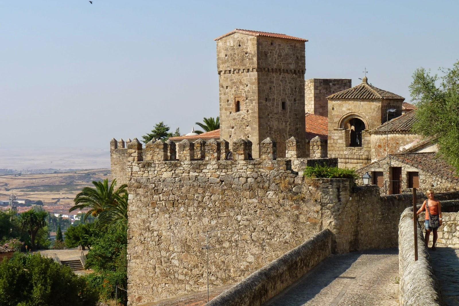 De camino al Alcazaba de Trujillo.