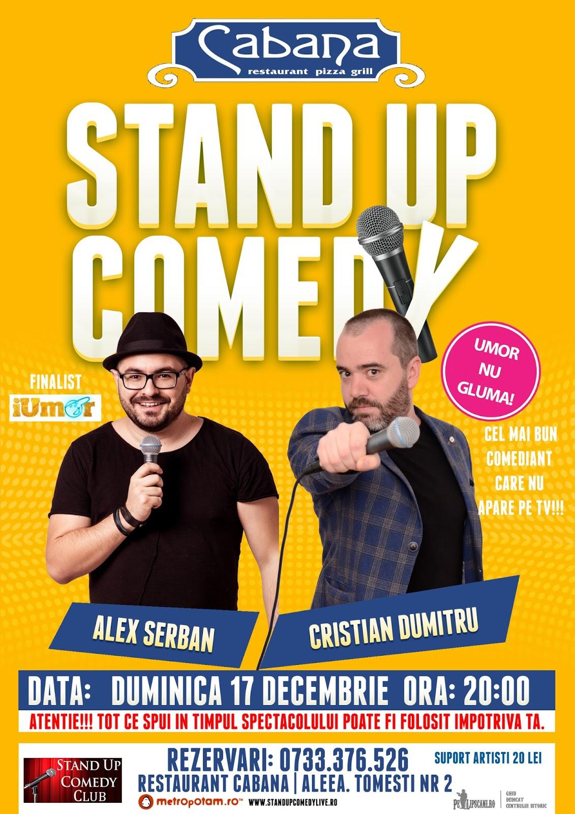 Stand-Up Comey Duminica 17 decembrie Bucuresti