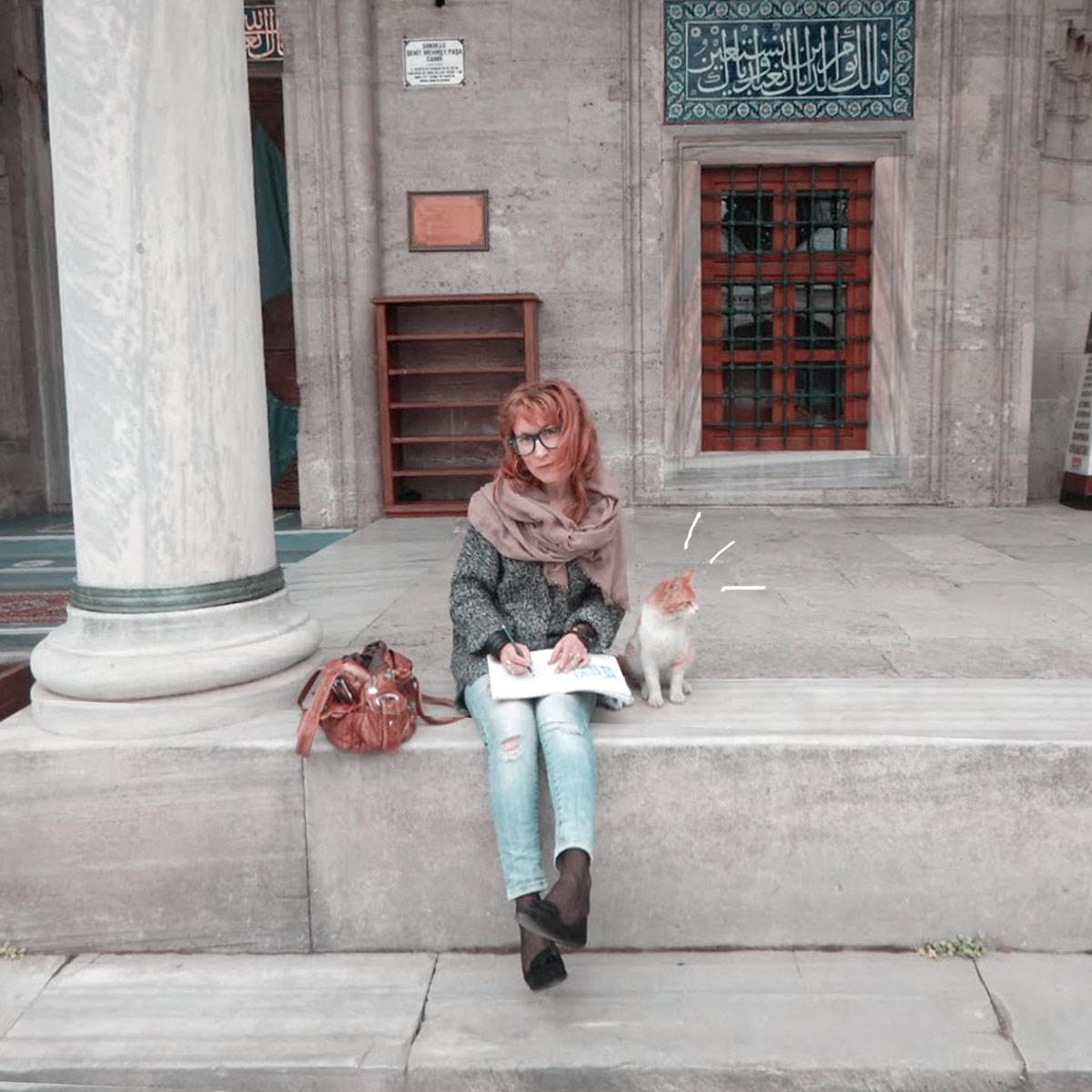 Istanbul sketch sketchbook watercolor travel blog