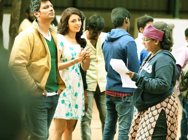 kavalai vendam movie working stills