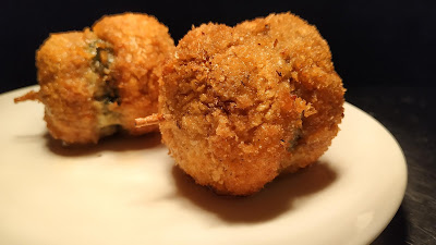 Fried Mushrooms with toothpick for mushroom duplex recipe