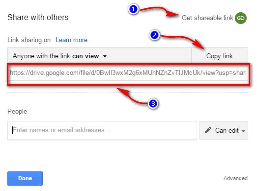 google drive share kaise kare