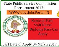 State Public Service Commission Recruitment 2017– 533 Staff Nurse