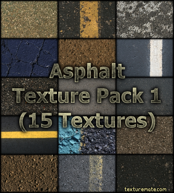 Free Texture Pack for Commercial Use –Asphalt