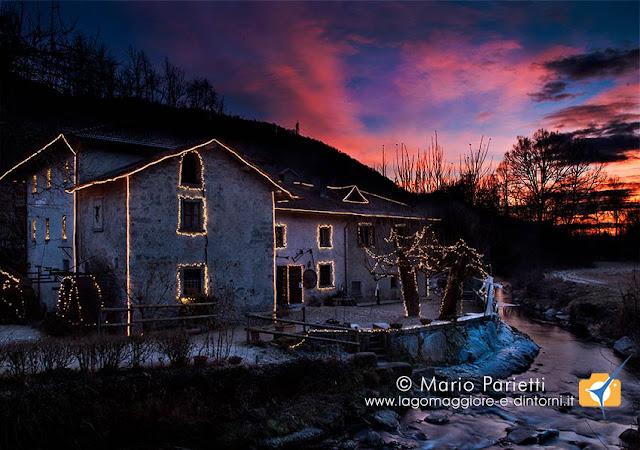 Tramonto natalizio al mulino del Trotto di Cagno