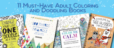 11 Must Have Adult Coloring and Doodling Books