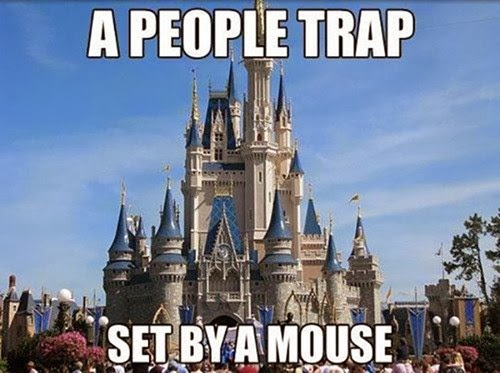 a people trap set by a mouse disneyland disneyworld funny