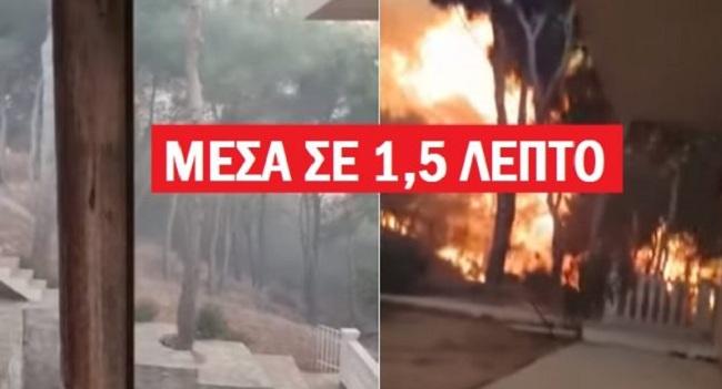 Δείτε βίντεο ντοκουμέντο μέσα από τη λαίλαπα στο Μάτι – Δείτε πώς «έτρεχε» η φωτιά