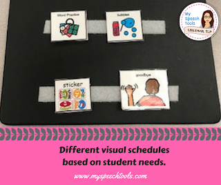 use picture symbols for routines