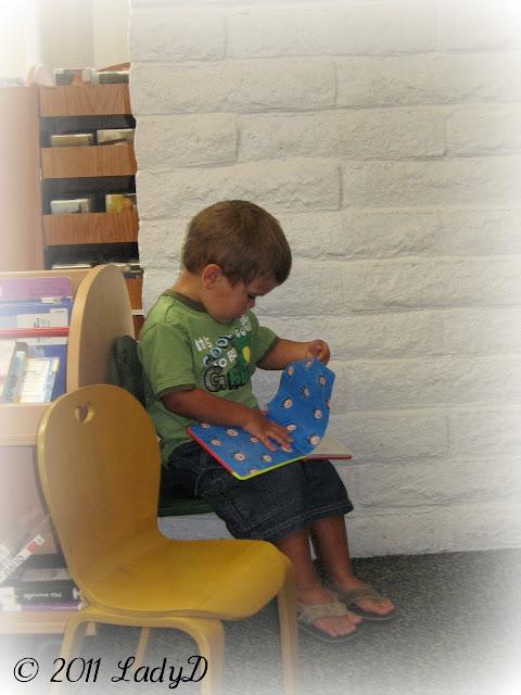 Grandson Reading Books: LadyD Books