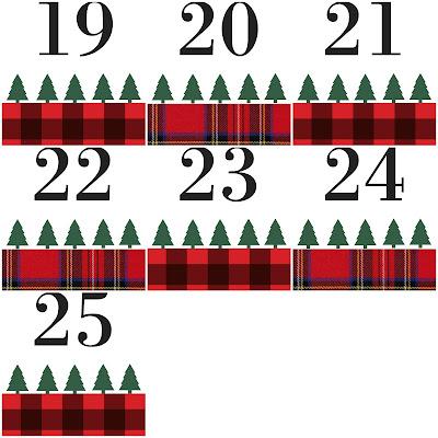 Cultivate Create Advent Calendar With Printable Plaid Tags
