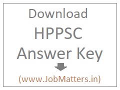 image : Download HPPSC Answer Key @ JobMatters.in